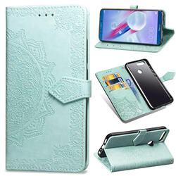 Embossing Imprint Mandala Flower Leather Wallet Case for Huawei Honor 9 - Green