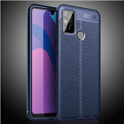 Luxury Auto Focus Litchi Texture Silicone TPU Back Cover for Huawei Honor 9A - Dark Blue