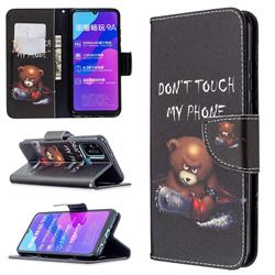 Chainsaw Bear Leather Wallet Case for Huawei Honor 9A