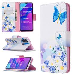 Butterflies Flowers Leather Wallet Case for Huawei Honor 9A