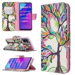 The Tree of Life Leather Wallet Case for Huawei Honor 9A