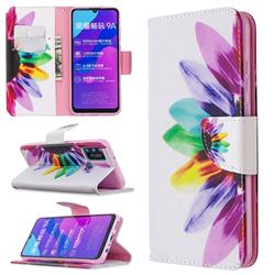 Seven-color Flowers Leather Wallet Case for Huawei Honor 9A