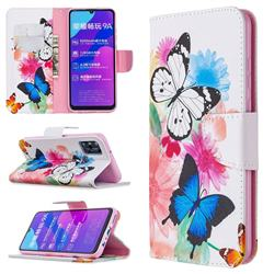 Vivid Flying Butterflies Leather Wallet Case for Huawei Honor 9A