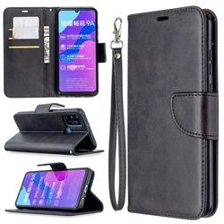 Classic Sheepskin PU Leather Phone Wallet Case for Huawei Honor 9A - Black