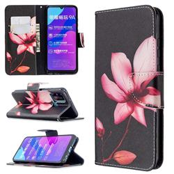 Lotus Flower Leather Wallet Case for Huawei Honor 9A