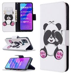 Lovely Panda Leather Wallet Case for Huawei Honor 9A