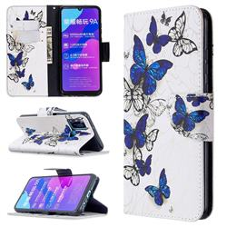 Flying Butterflies Leather Wallet Case for Huawei Honor 9A
