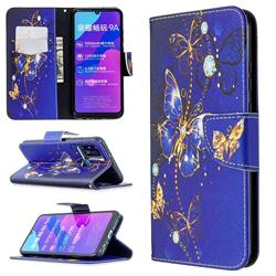Purple Butterfly Leather Wallet Case for Huawei Honor 9A