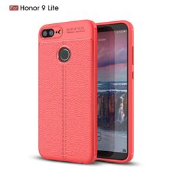 Luxury Auto Focus Litchi Texture Silicone TPU Back Cover for Huawei Honor 9 Lite - Red