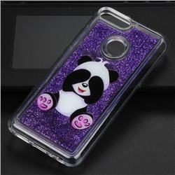 Naughty Panda Glassy Glitter Quicksand Dynamic Liquid Soft Phone Case for Huawei Honor 9 Lite