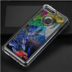 Phoenix Glassy Glitter Quicksand Dynamic Liquid Soft Phone Case for Huawei Honor 9 Lite
