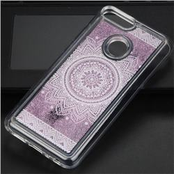 Mandala Glassy Glitter Quicksand Dynamic Liquid Soft Phone Case for Huawei Honor 9 Lite