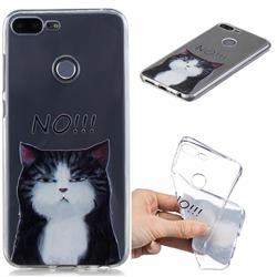 No Cat Clear Varnish Soft Phone Back Cover for Huawei Honor 9 Lite