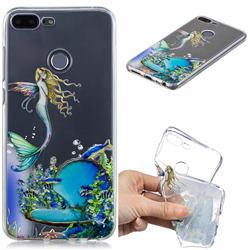 Mermaid Clear Varnish Soft Phone Back Cover for Huawei Honor 9 Lite