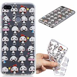 Mini Panda Clear Varnish Soft Phone Back Cover for Huawei Honor 9 Lite