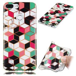 Three-dimensional Square Soft TPU Marble Pattern Phone Case for Huawei Honor 9 Lite
