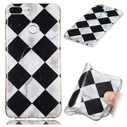Black and White Matching Soft TPU Marble Pattern Phone Case for Huawei Honor 9 Lite