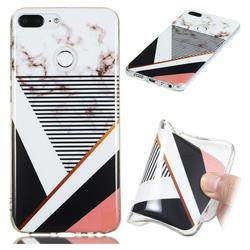 Pinstripe Soft TPU Marble Pattern Phone Case for Huawei Honor 9 Lite