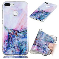 Purple Amber Soft TPU Marble Pattern Phone Case for Huawei Honor 9 Lite