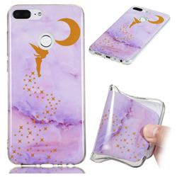 Elf Purple Soft TPU Marble Pattern Phone Case for Huawei Honor 9 Lite
