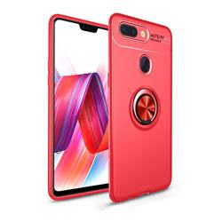 Auto Focus Invisible Ring Holder Soft Phone Case for Huawei Honor 9 Lite - Red