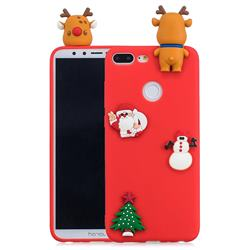 Red Elk Christmas Xmax Soft 3D Silicone Case for Huawei Honor 9 Lite