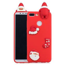 Red Santa Claus Christmas Xmax Soft 3D Silicone Case for Huawei Honor 9 Lite