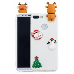 White Elk Christmas Xmax Soft 3D Silicone Case for Huawei Honor 9 Lite