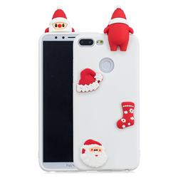 White Santa Claus Christmas Xmax Soft 3D Silicone Case for Huawei Honor 9 Lite