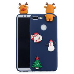 Navy Elk Christmas Xmax Soft 3D Silicone Case for Huawei Honor 9 Lite