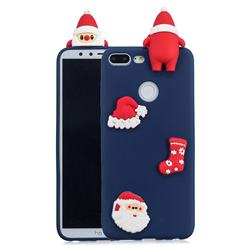 Navy Santa Claus Christmas Xmax Soft 3D Silicone Case for Huawei Honor 9 Lite