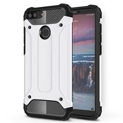 King Kong Armor Premium Shockproof Dual Layer Rugged Hard Cover for Huawei Honor 9 Lite - White