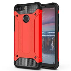 King Kong Armor Premium Shockproof Dual Layer Rugged Hard Cover for Huawei Honor 9 Lite - Big Red