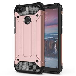 King Kong Armor Premium Shockproof Dual Layer Rugged Hard Cover for Huawei Honor 9 Lite - Rose Gold