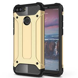 King Kong Armor Premium Shockproof Dual Layer Rugged Hard Cover for Huawei Honor 9 Lite - Champagne Gold
