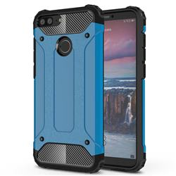 King Kong Armor Premium Shockproof Dual Layer Rugged Hard Cover for Huawei Honor 9 Lite - Sky Blue