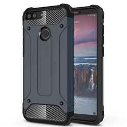 King Kong Armor Premium Shockproof Dual Layer Rugged Hard Cover for Huawei Honor 9 Lite - Navy