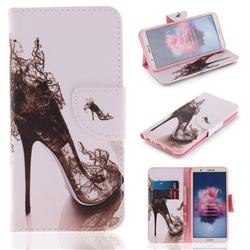 High Heels PU Leather Wallet Case for Huawei Honor 9 Lite