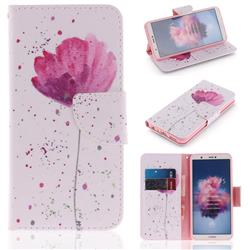 Purple Orchid PU Leather Wallet Case for Huawei Honor 9 Lite