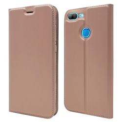 Ultra Slim Card Magnetic Automatic Suction Leather Wallet Case for Huawei Honor 9 Lite - Rose Gold