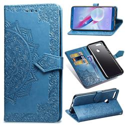 Embossing Imprint Mandala Flower Leather Wallet Case for Huawei Honor 9 Lite - Blue