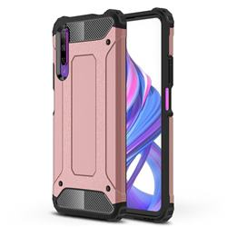 King Kong Armor Premium Shockproof Dual Layer Rugged Hard Cover for Huawei Honor 9X - Rose Gold