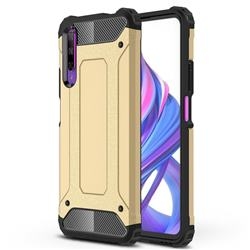 King Kong Armor Premium Shockproof Dual Layer Rugged Hard Cover for Huawei Honor 9X - Champagne Gold