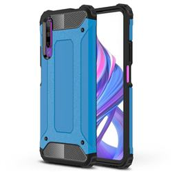 King Kong Armor Premium Shockproof Dual Layer Rugged Hard Cover for Huawei Honor 9X - Sky Blue
