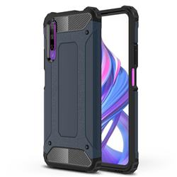 King Kong Armor Premium Shockproof Dual Layer Rugged Hard Cover for Huawei Honor 9X - Navy