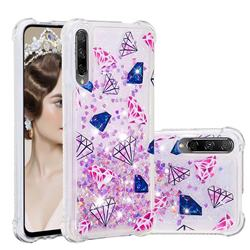 Diamond Dynamic Liquid Glitter Sand Quicksand Star TPU Case for Huawei Honor 9X