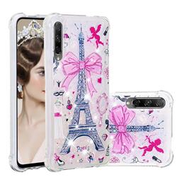 Mirror and Tower Dynamic Liquid Glitter Sand Quicksand Star TPU Case for Huawei Honor 9X