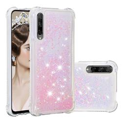 Dynamic Liquid Glitter Sand Quicksand TPU Case for Huawei Honor 9X - Silver Powder Star