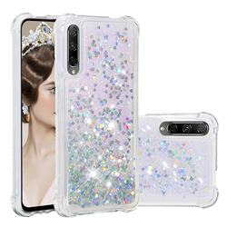 Dynamic Liquid Glitter Sand Quicksand Star TPU Case for Huawei Honor 9X - Silver