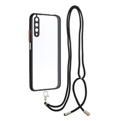 Necklace Cross-body Lanyard Strap Cord Phone Case Cover for Huawei Honor 9X - Black